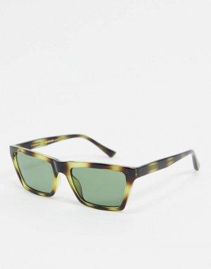 Солнцезащитные очки в черепаховой оправе -Зеленый A.Kjaerbede