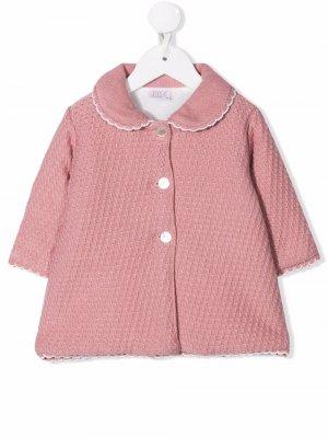 Buttoned-up crochet coat Paz Rodriguez. Цвет: розовый