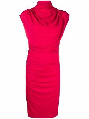 Платье миди Moat со сборками Wolford. Цвет: красный