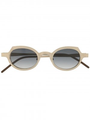 Солнцезащитные очки RG0090 в круглой оправе Rigards. Цвет: серебристый