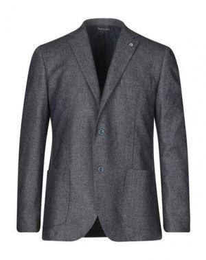 Пиджак ALESSANDRO GILLES. Цвет: свинцово-серый