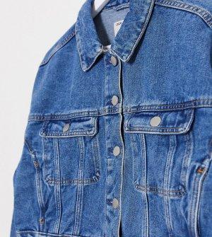 Синяя джинсовая куртка ASOS DESIGN Tall-Голубой Tall