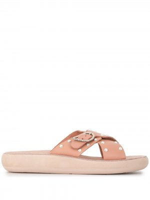 Сандалии Pella 30 с заклепками Ancient Greek Sandals. Цвет: розовый