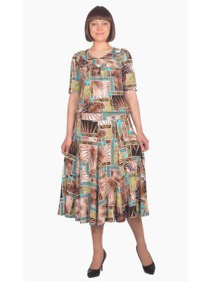 Кофточка Томилочка Мода ТМ. Цвет: бирюзовый, бежевый, коричневый