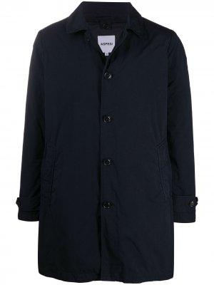 Длинная куртка-рубашка Aspesi. Цвет: синий