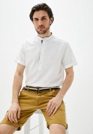 Рубашка Indicode Jeans. Цвет: белый