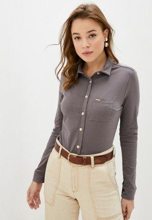 Блуза Vilatte. Цвет: серый