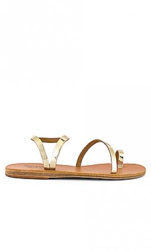 Сандалии alpi elefheria Ancient Greek Sandals. Цвет: металлический золотой