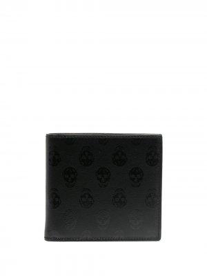 Бумажник с принтом Skull Alexander McQueen. Цвет: черный