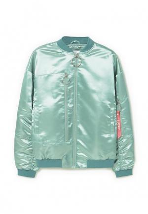Куртка Mango - RODEO. Цвет: голубой