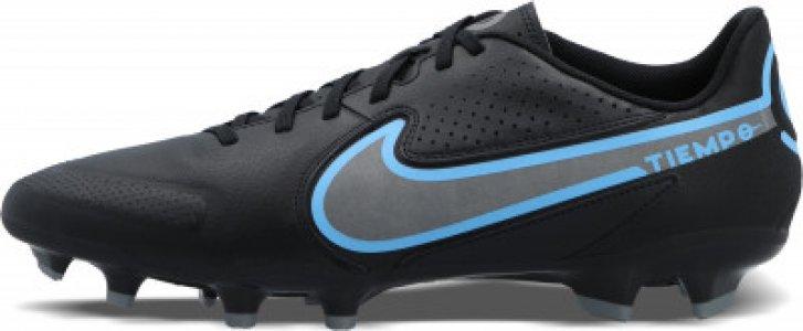 Бутсы мужские Legend 9 Academy Fg/Mg, размер 44 Nike. Цвет: черный