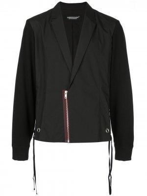 Пиджак с жилетом UNDERCOVER. Цвет: черный