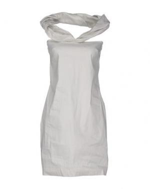 Короткое платье ANNARITA N. Цвет: серый