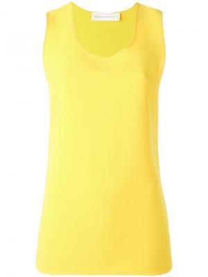 Базовая майка Victoria Beckham. Цвет: жёлтый и оранжевый