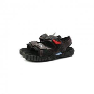 Комбинированные сандалии Odsy Off-White. Цвет: чёрный