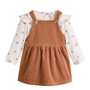 Комплект из 2 вещей платье LaRedoute. Цвет: каштановый