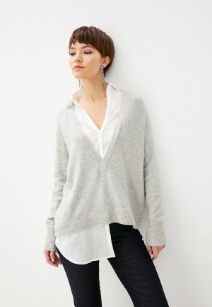 Пуловер Patrizia Pepe. Цвет: серый
