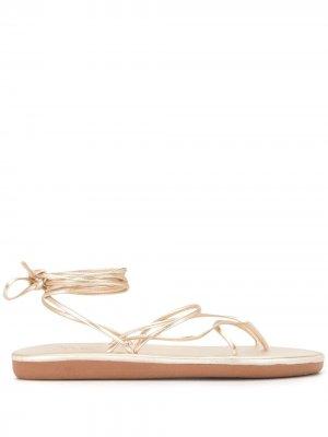 Сандалии с эффектом металлик и ремешками Ancient Greek Sandals. Цвет: золотистый