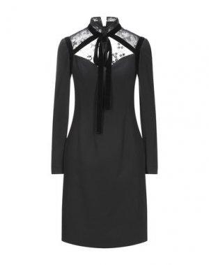 Короткое платье ELIE SAAB. Цвет: черный
