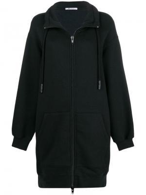 Куртка-бомбер средней длины Alexander Wang. Цвет: черный