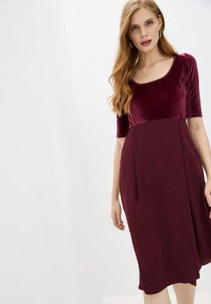 Платье High. Цвет: бордовый