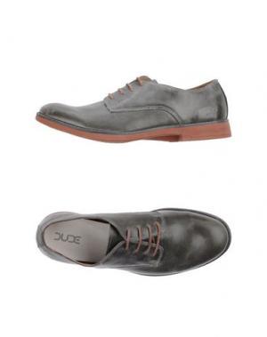 Обувь на шнурках DUDE. Цвет: серый