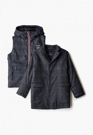 Комплект Junior Republic пальто и жилет. Цвет: разноцветный