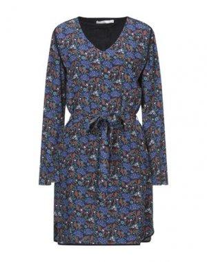 Короткое платье AAIKO. Цвет: темно-синий