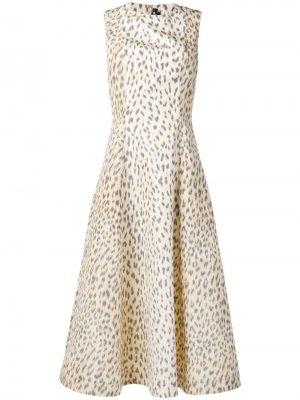 Расклешенное платье с леопардовым принтом Calvin Klein 205W39nyc