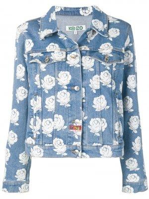 Джинсовая куртка Roses Kenzo. Цвет: синий