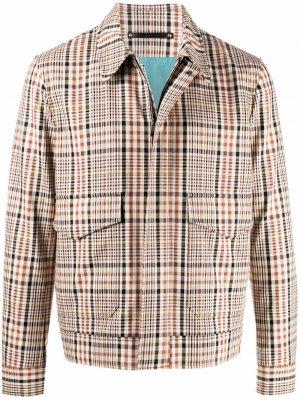 Куртка в клетку PAUL SMITH. Цвет: нейтральные цвета