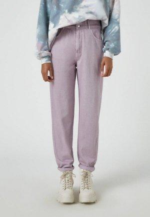 Брюки Pull&Bear. Цвет: фиолетовый