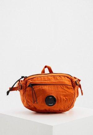 Сумка поясная C.P. Company. Цвет: оранжевый