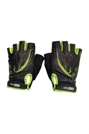 Перчатки для фитнеса, onerun. Цвет: черный, салатовый