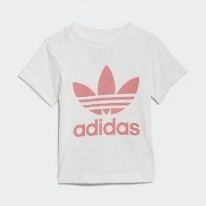 Футболка Trefoil Originals adidas. Цвет: белый