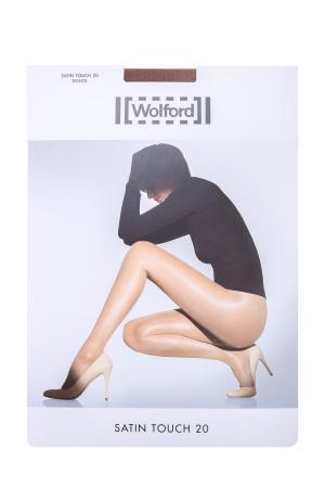 Колготки Satin Touch с шортами моделирующим эффектом WOLFORD. Цвет: бежевый