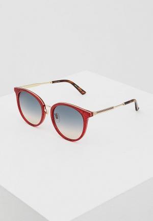 Очки солнцезащитные Gucci GG0204SK005. Цвет: красный