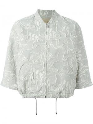 Куртка-бомбер Jiu Christian Wijnants. Цвет: серый