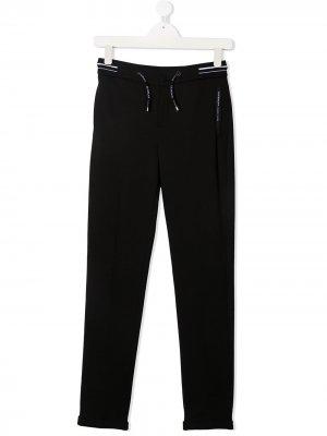 Спортивные брюки с кулиской и логотипом Givenchy Kids. Цвет: черный