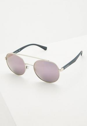 Очки солнцезащитные Emporio Armani EA2051 30155R. Цвет: серебряный