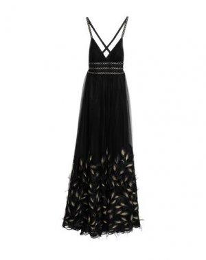 Длинное платье ALLURE. Цвет: черный