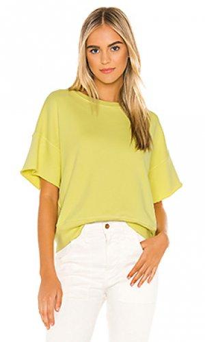 Свитшот brooke NSF. Цвет: green,yellow