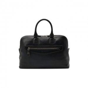 Кожаная сумка для ноутбука Santoni. Цвет: синий