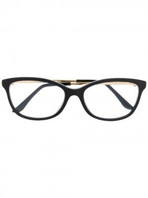 Очки Trinity в прямоугольной оправе Cartier Eyewear. Цвет: черный
