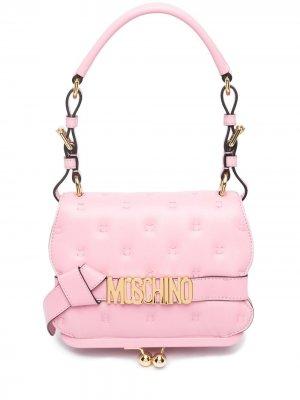Сумка на плечо Pillow с логотипом Moschino. Цвет: розовый