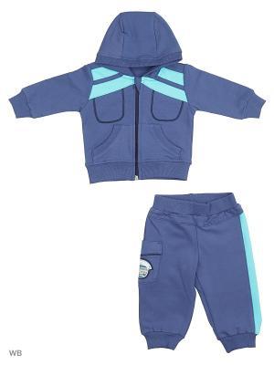 Спортивный костюм FIM. Цвет: синий