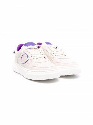 Кроссовки с нашивкой-логотипом Philippe Model Kids. Цвет: нейтральные цвета