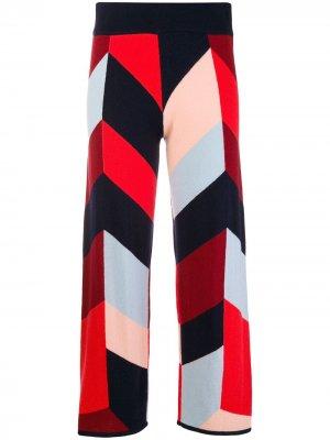 Geometric pattern cropped trousers Chinti and Parker. Цвет: синий