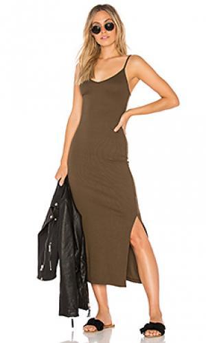 Платье-майка licorice Indah. Цвет: военный стиль