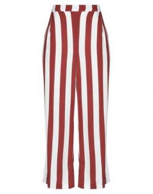 Повседневные брюки ICHI. Цвет: кирпично-красный